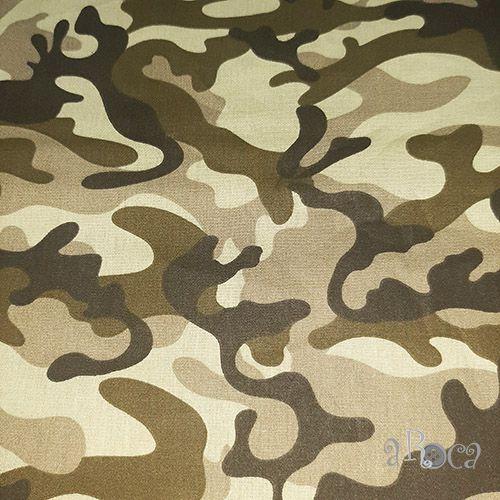 Tecido Tricoline camuflado Militar I - 50 cm x 150 cm