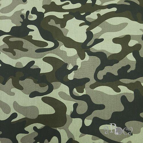 Tecido Tricoline camuflado Militar II - 50 cm x 150 cm