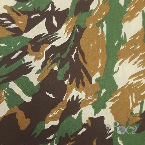 Tecido Tricoline camuflado Militar IV - 50 cm x 150 cm