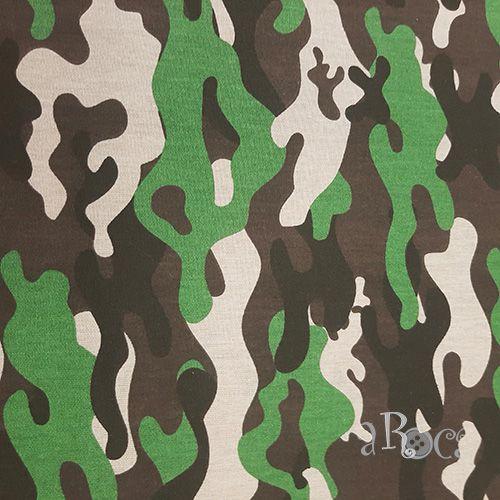 Tecido Tricoline camuflado Militar V - 50 cm x 150 cm