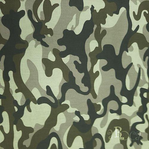 Tecido Tricoline camuflado Militar VI - 50 cm x 150 cm
