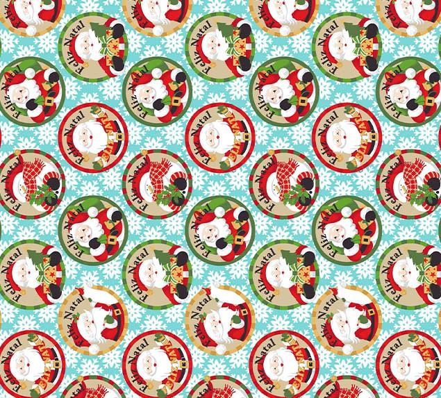 Tecido Tricoline Feliz Natal