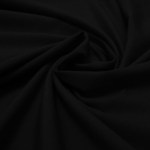 Tecido Tricoline Lisa Preto  50 cm x 150 cm