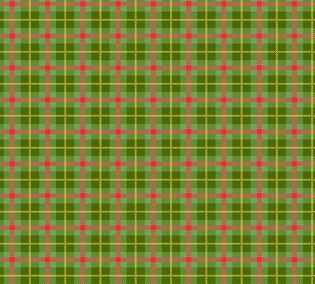 Tecido Tricoline Xadrez Verde Dourado