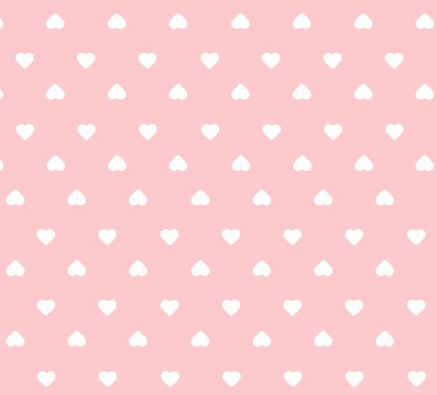 Tecido Tricoline Corações Pequenos Fundo Rosa