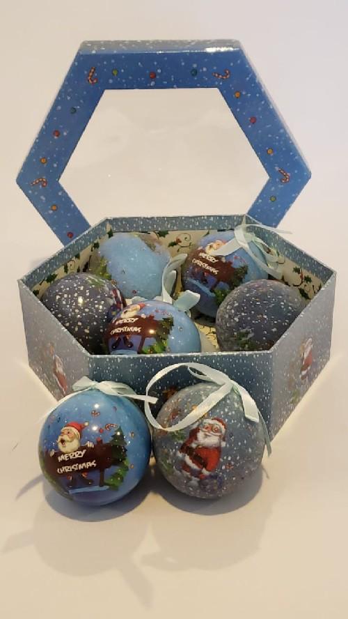BOLA BLUE CHRISTMAS C/7   8647C