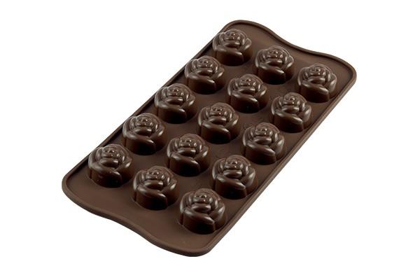FORMA PARA CHOCOLATE ROSE  (21X11X2CM)  PRN   22.113.77.0065