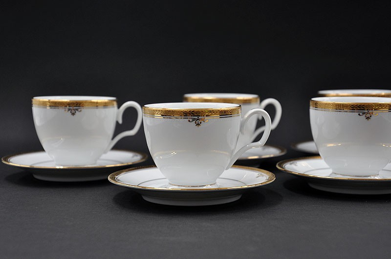 JG CAFE 12 PÇS BUCKINGHAM GOLD NORITAKE 4346   01693
