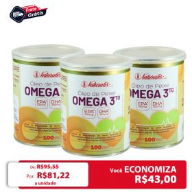 Kit 03 Óleo de Peixe Omega-3 Naturalis 100 Cápsulas cada