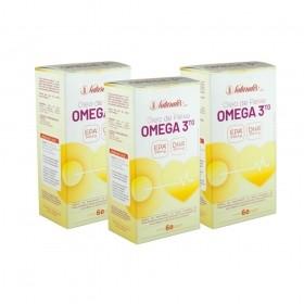 Kit 03 Óleo de Peixe Omega-3 Naturalis 60 Cápsulas cada