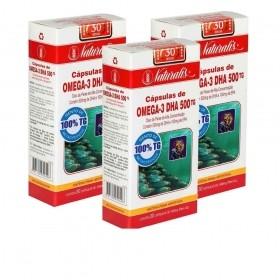 Kit 03 Omega-3 DHA 500 Naturalis 30 Cápsulas cada