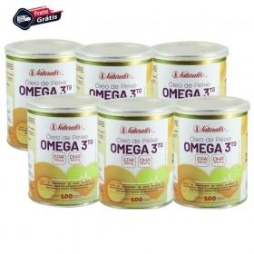 Kit 06 Óleo de Peixe Omega-3 Naturalis 100 Cápsulas cada