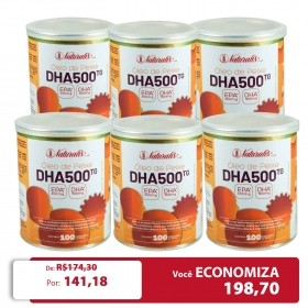 Kit 06 Omega-3 DHA 500 Naturalis 100 Cápsulas cada