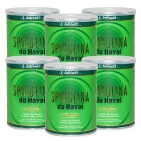 Kit 06 Spirulina do Havai Naturalis 180 Cápsulas cada
