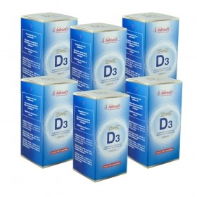 Kit 06 Vitamina D3 Naturalis 120 Comprimidos  cada