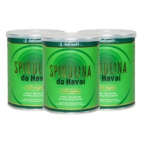 Kit 03 Spirulina do Havai Naturalis 180 Cápsulas cada
