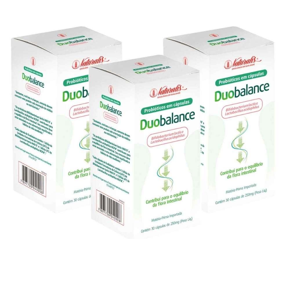 Kit 03 Probiótico Duobalance Naturalis 30 Cápsulas