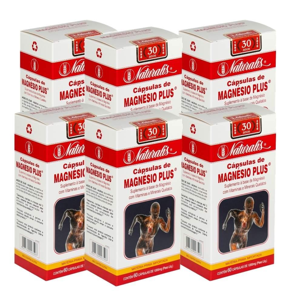 Kit 06 Magnésio Plus® Naturalis 60 Cápsulas cada