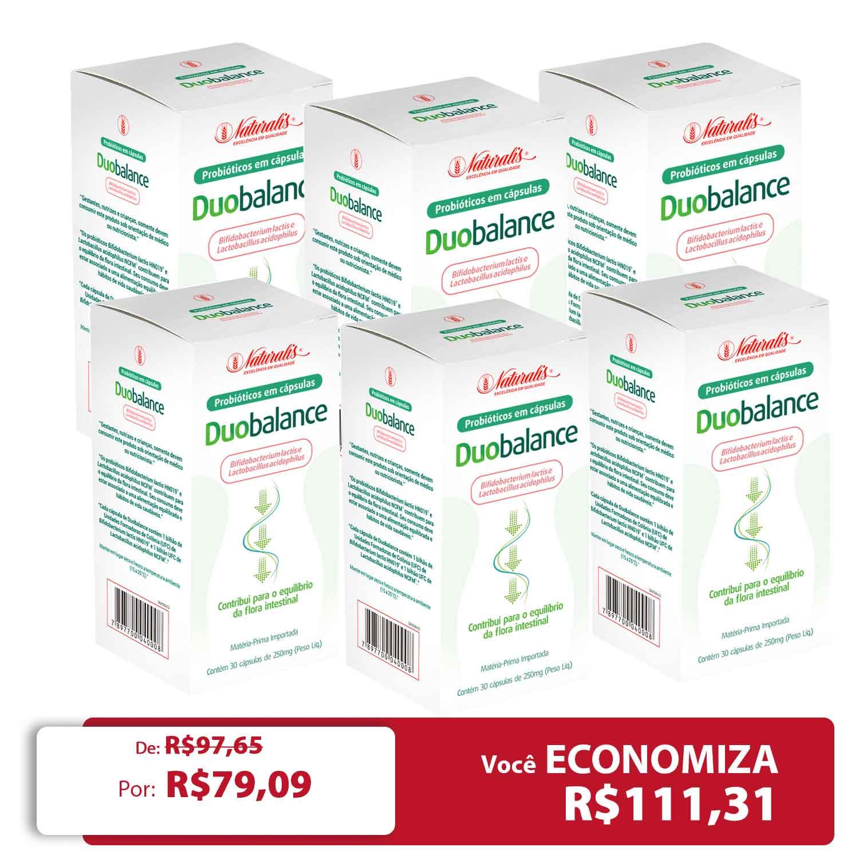 Kit 06 Probiótico Duobalance Naturalis 30 Cápsulas
