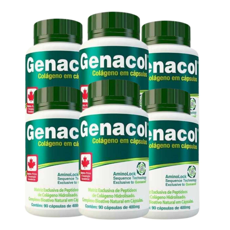 Kit 6 Genacol Colágeno Hidrolisado em Cápsulas 400mg - 90 Cápsulas cada