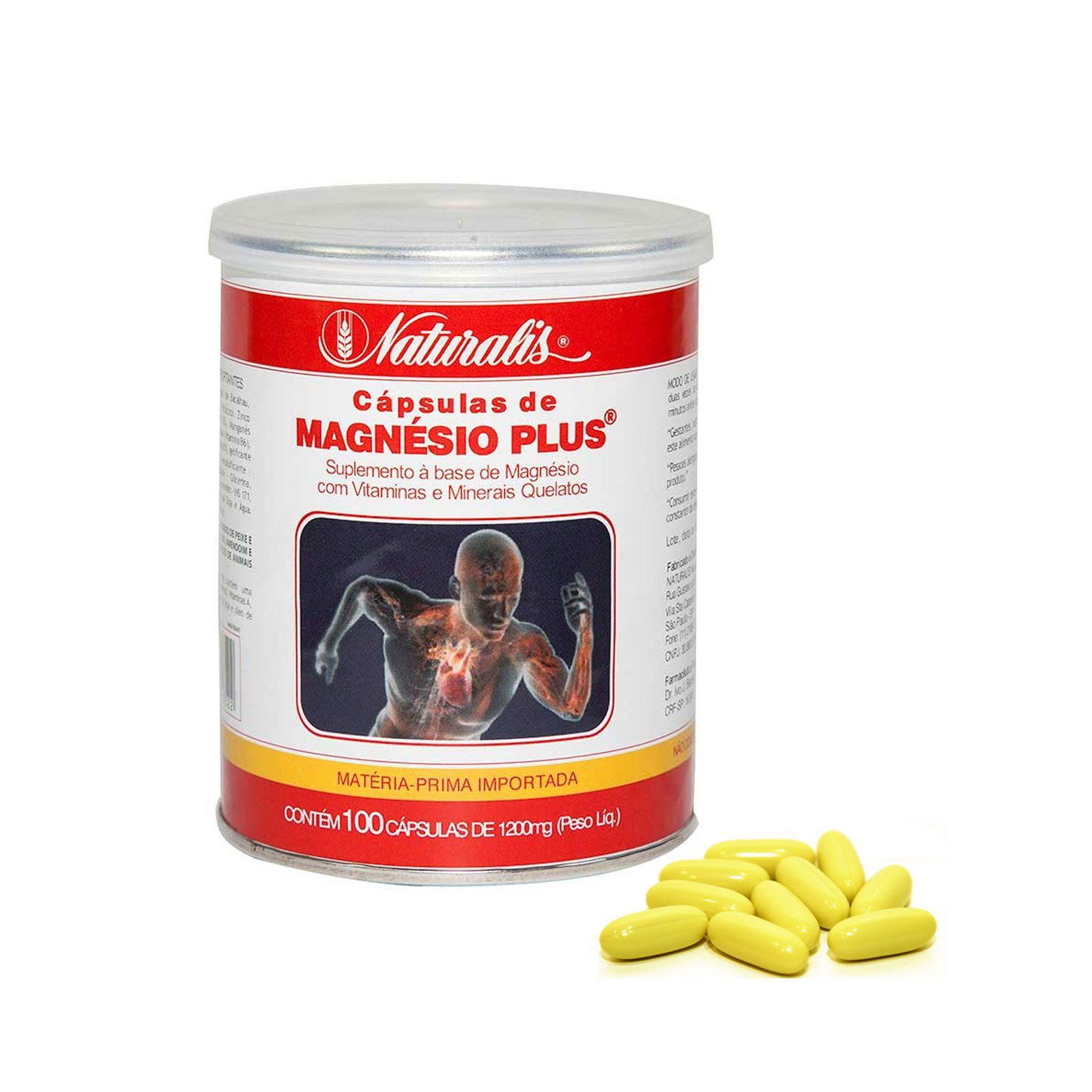 Magnésio Plus® Naturalis 100 Cápsulas