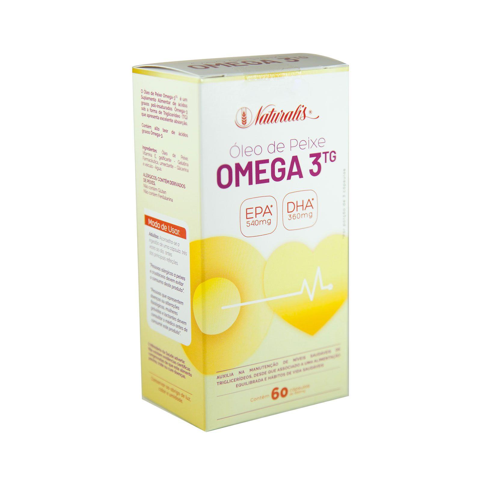 Óleo de Peixe Omega-3 Naturalis 60 Cápsulas