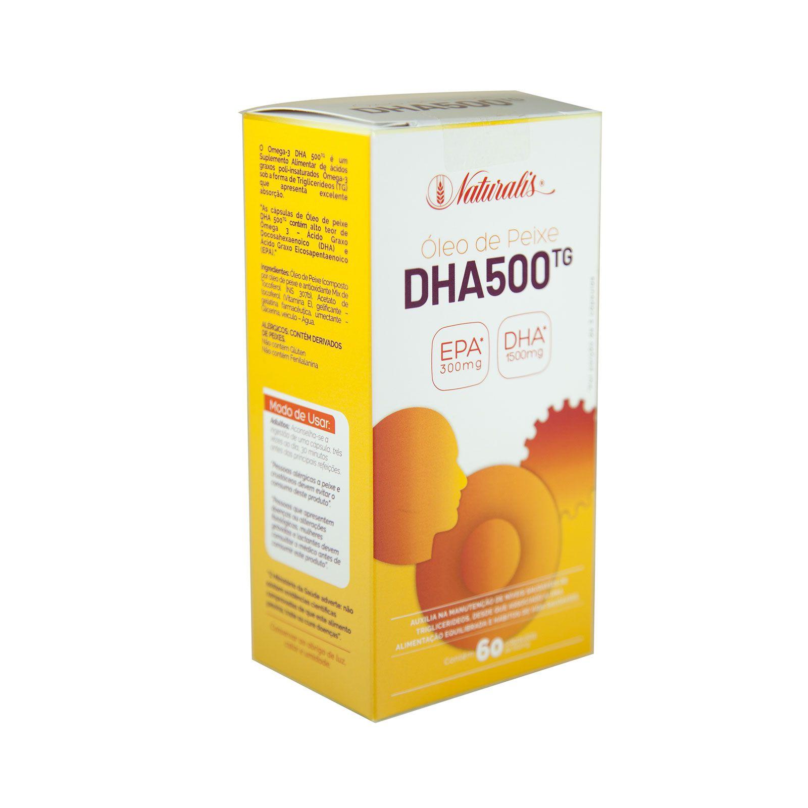 Omega-3 DHA 500 Naturalis 60 Cápsulas