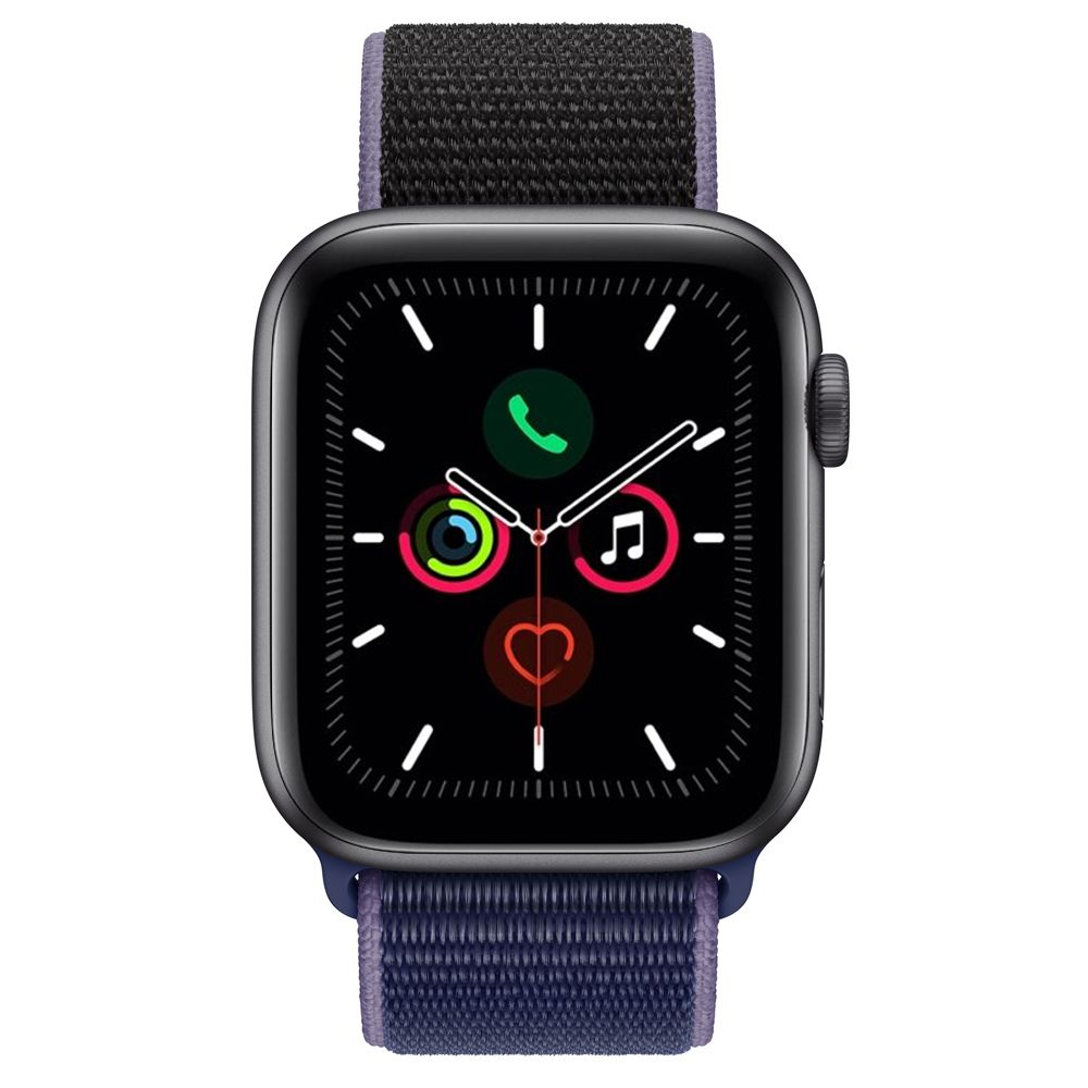 Apple Watch S5 (GPS) Caixa Alumínio Cinza espacial 44mm Pulseira Esportiva Loop Azul ( Midnight Blue)  MWT52LL/A