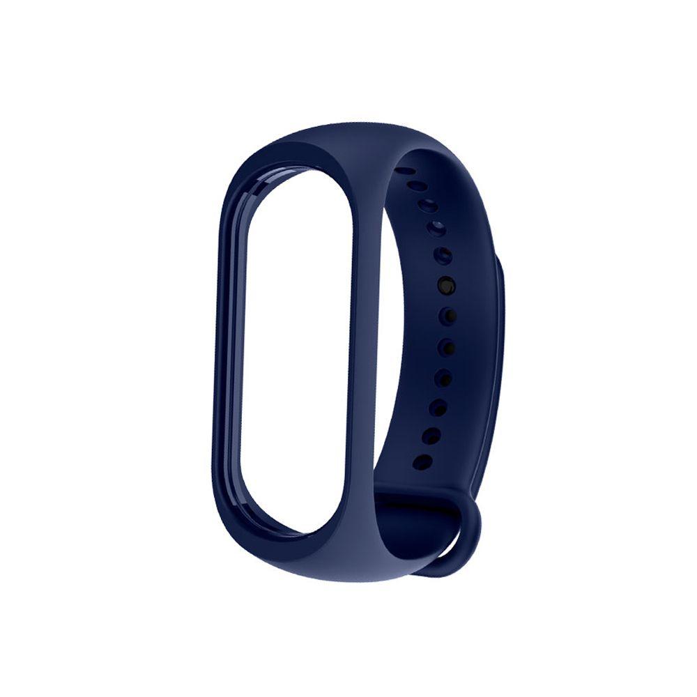 Bracelete de silicone para pulseira inteligente Mi  band 3 / 4 XM, Azul XM382AZU
