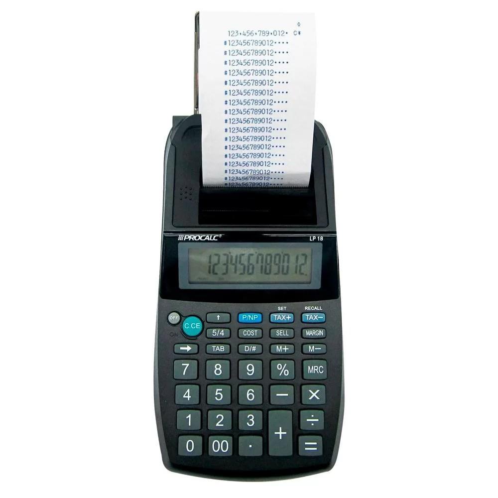 Calculadora de Impressão com Bobina LP18 12 Digitos - Procalc