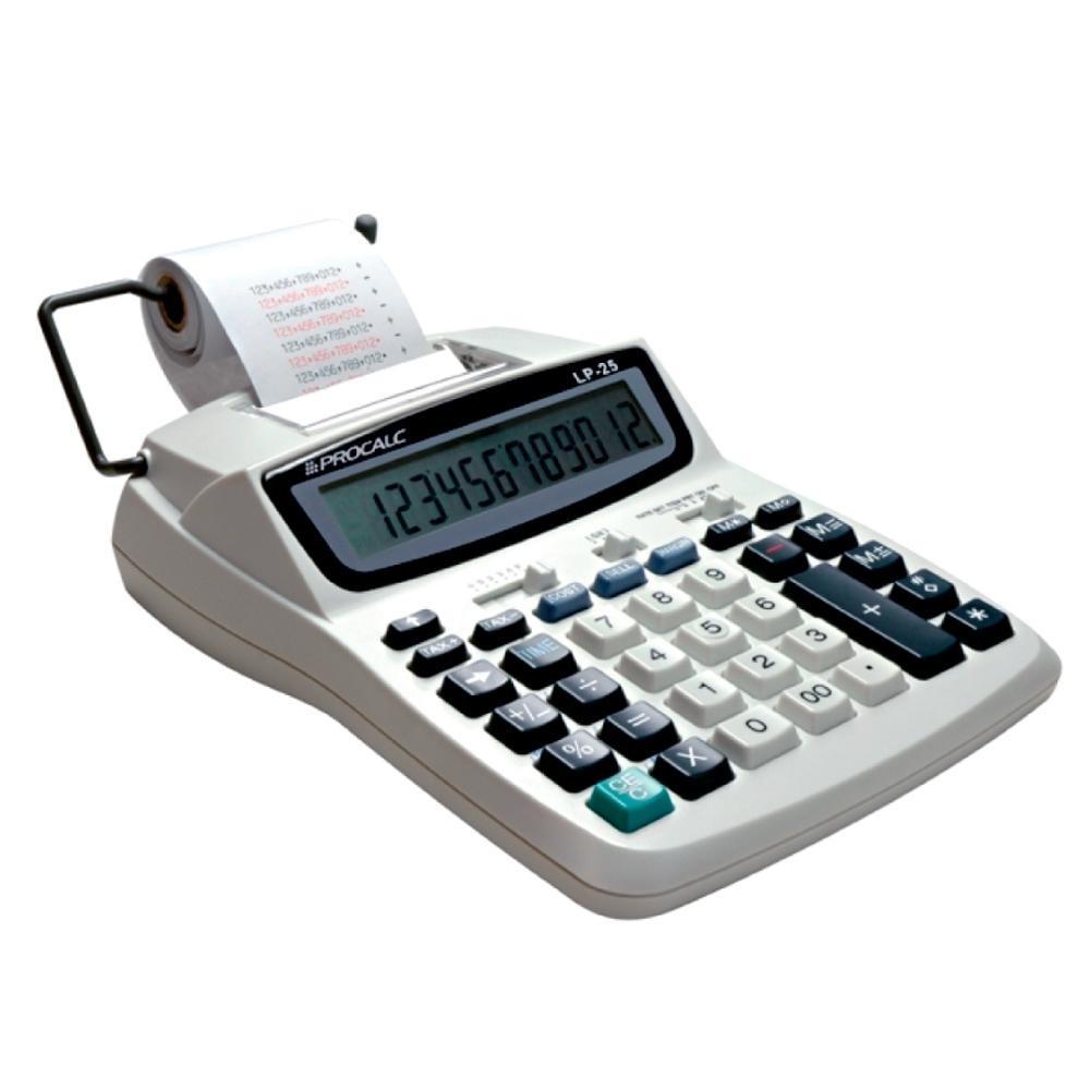 Calculadora de Impressão Procalc, 12 dígitos LP25 Branca