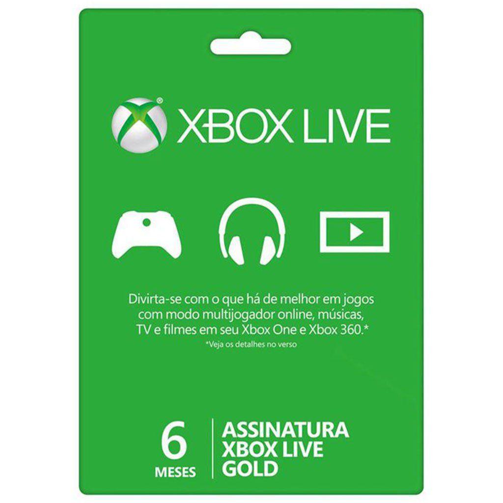 Cartão Digital Xbox Live Gold 6 meses - Microsoft