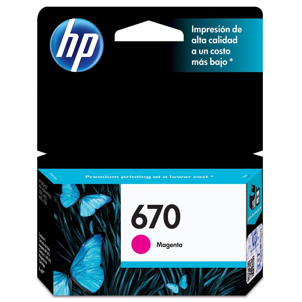 Cartucho de Tinta HP 670 Magenta - CZ115AB