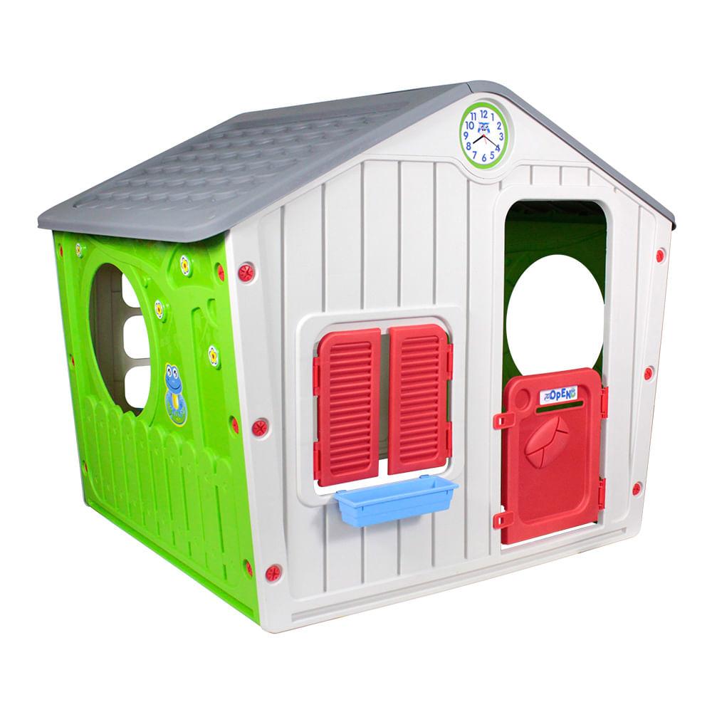 Casinha de Brinquedo Infantil Cinza - Bel Fix