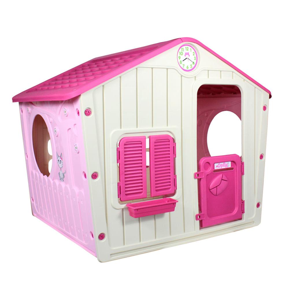 Casinha de Brinquedo Infantil Rosa  - Bel Fix