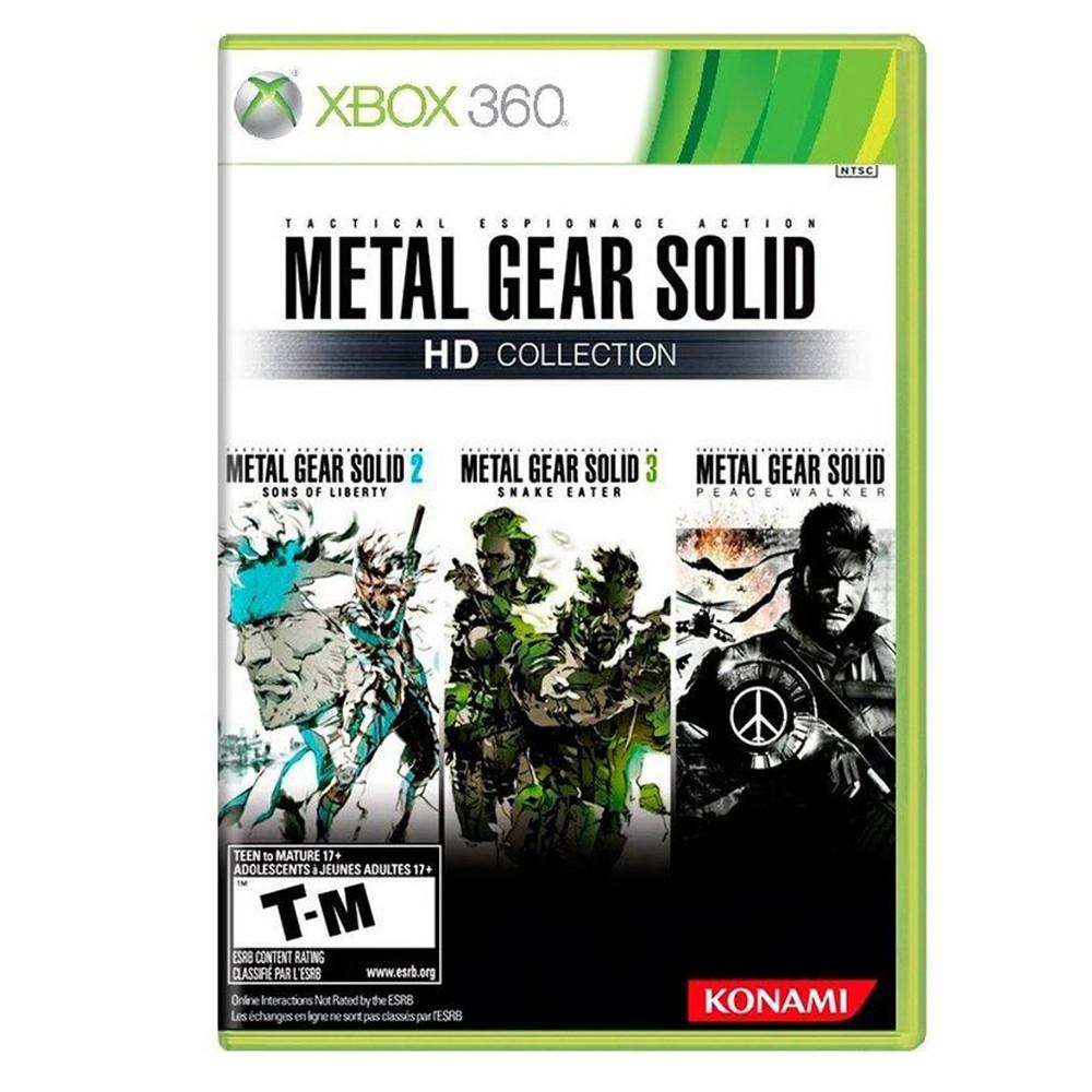Coleção Metal Gear Solid (Sons of Liberty + Snake Eater + Peace Walker) - Xbox 360 (Usado)