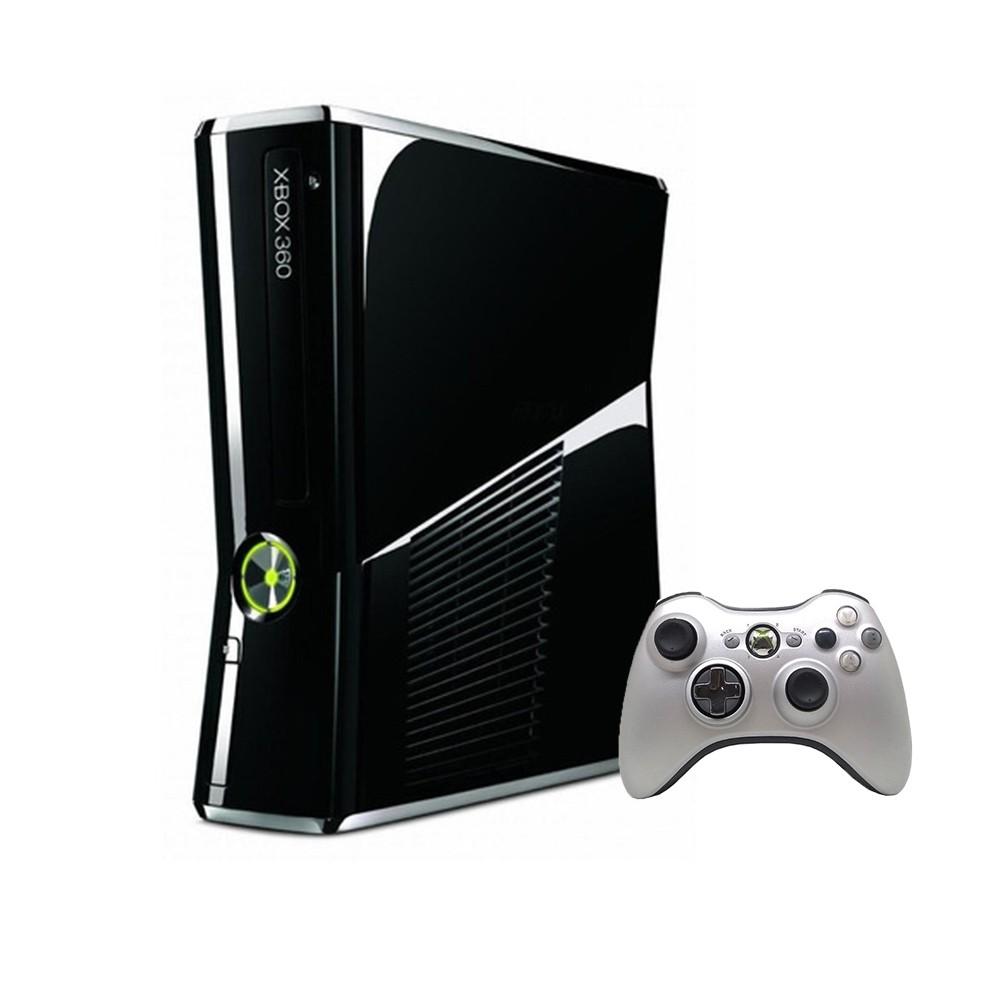 Console Xbox 360 S 250GB Preto e Cinza - Microsoft (Usado)
