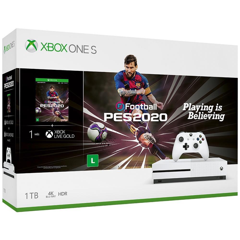 Console Xbox One S 1TB Branco com PES2020 - Microsoft (Usado)