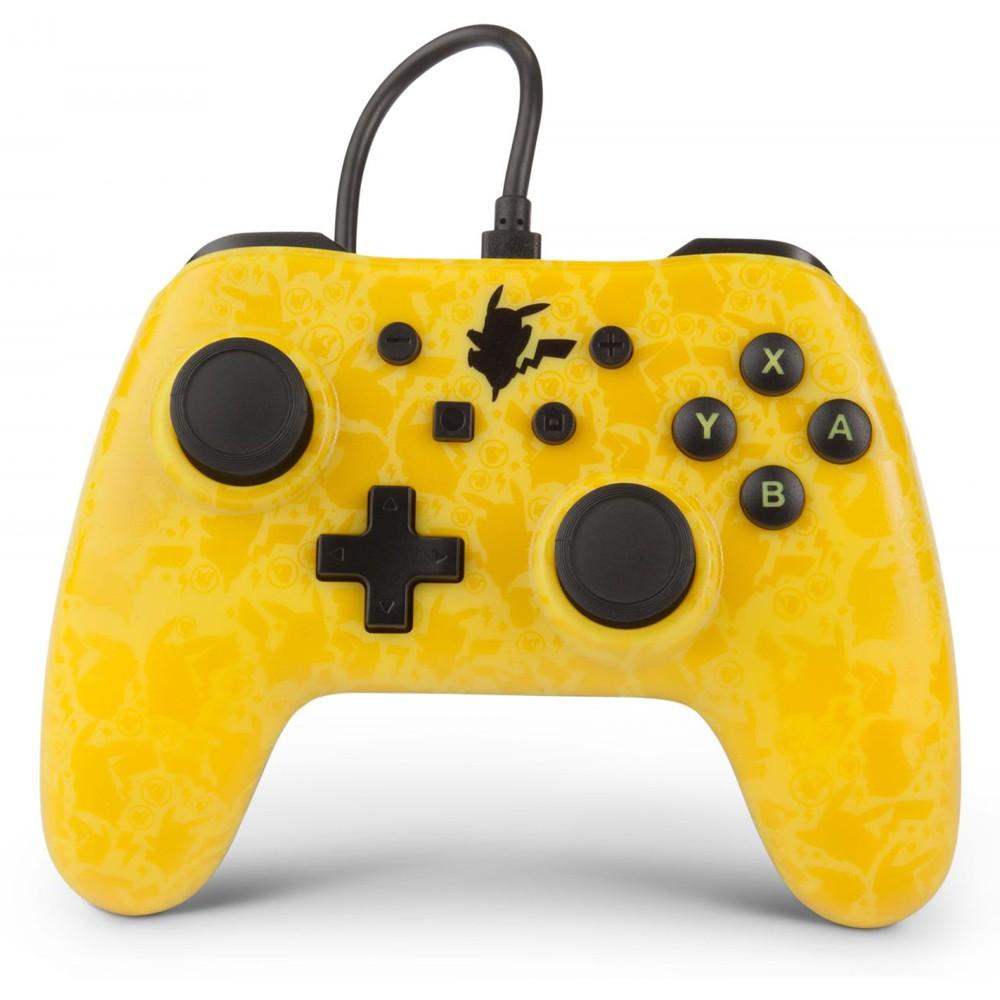 Controle Com Fio Aprimorado PowerA Para Nintendo Switch - Pokemon - Pikachu Silhueta