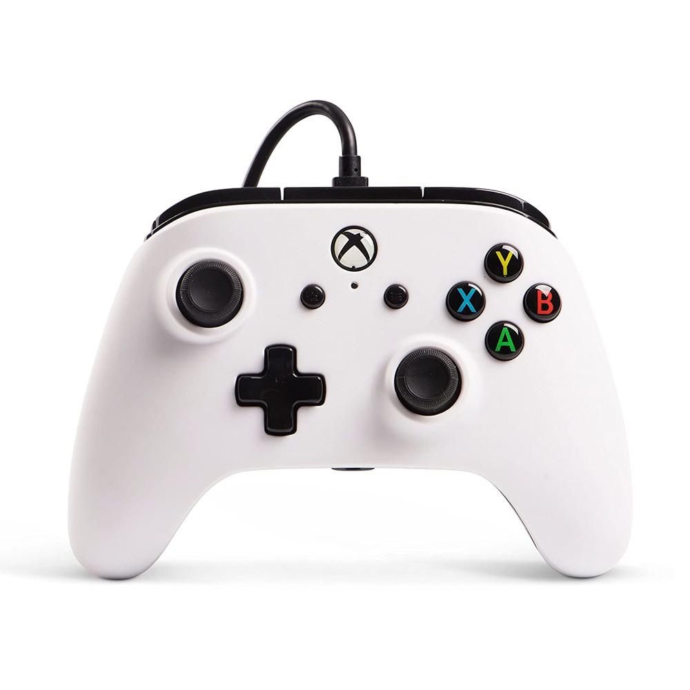 Controle Com Fio Aprimorado PowerA Para Xbox One - Branco