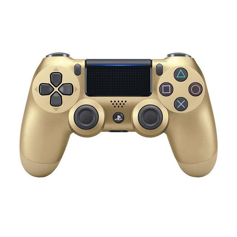 Controle Sony Dualshock 4 Gold/Dourado sem fio (Com led frontal) - PS4