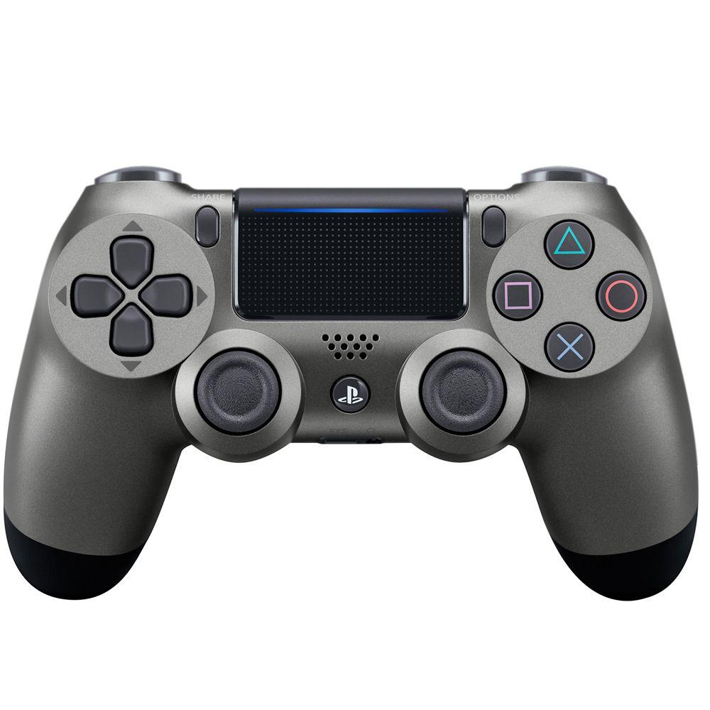 Controle Sony Dualshock 4 Preto Aço Sem Fio - PS4