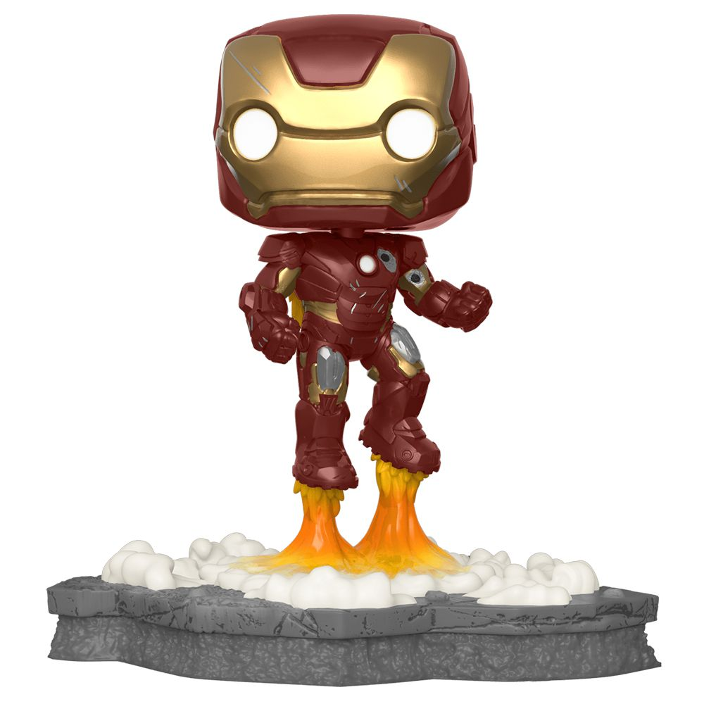 Funko Pop Marvel Vingadores Homem de Ferro 584 - Deluxe Exclusivo