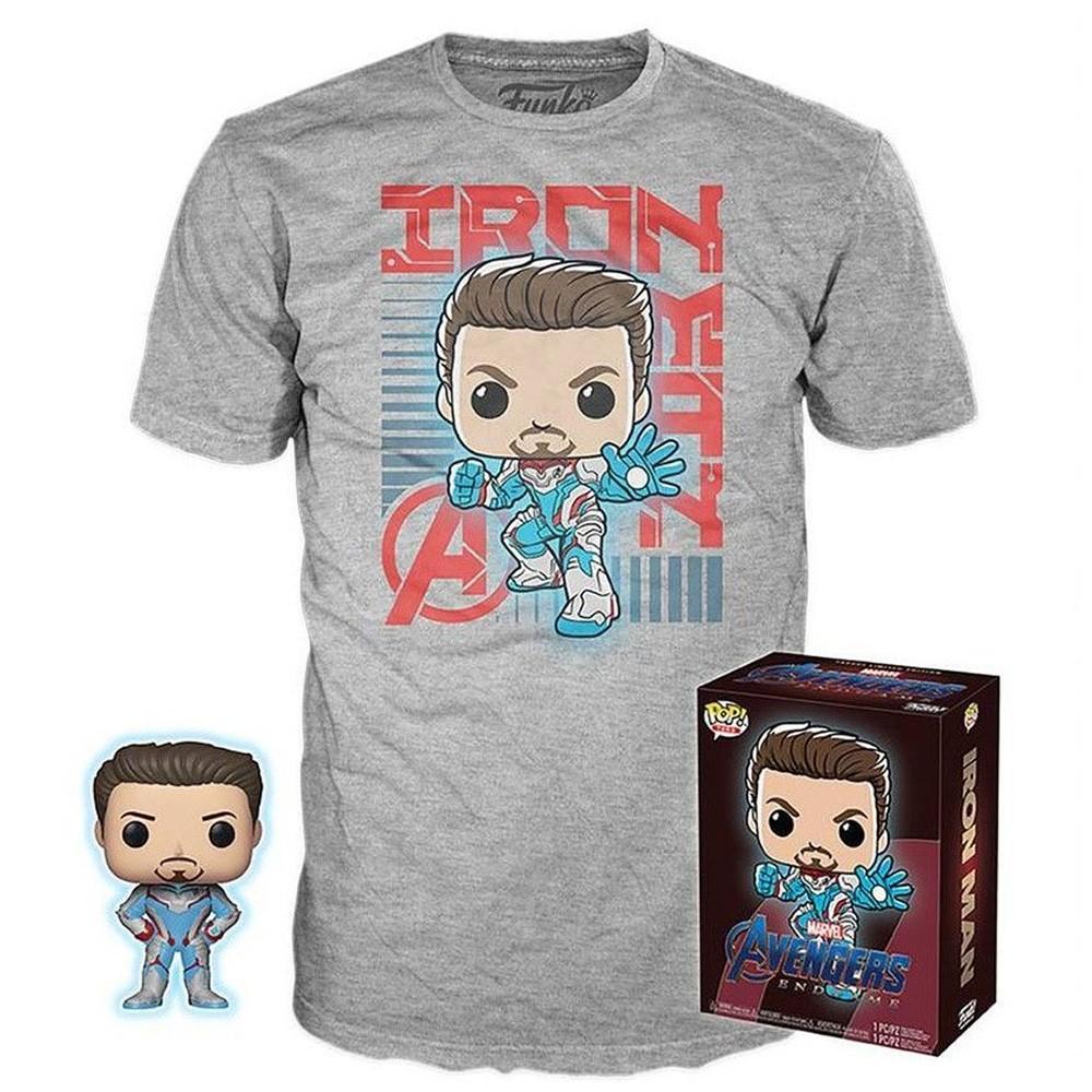 Funko Pop Marvel Vingadores Ultimato Box - Funko Tony Stark Exclusivo + Camiseta GG