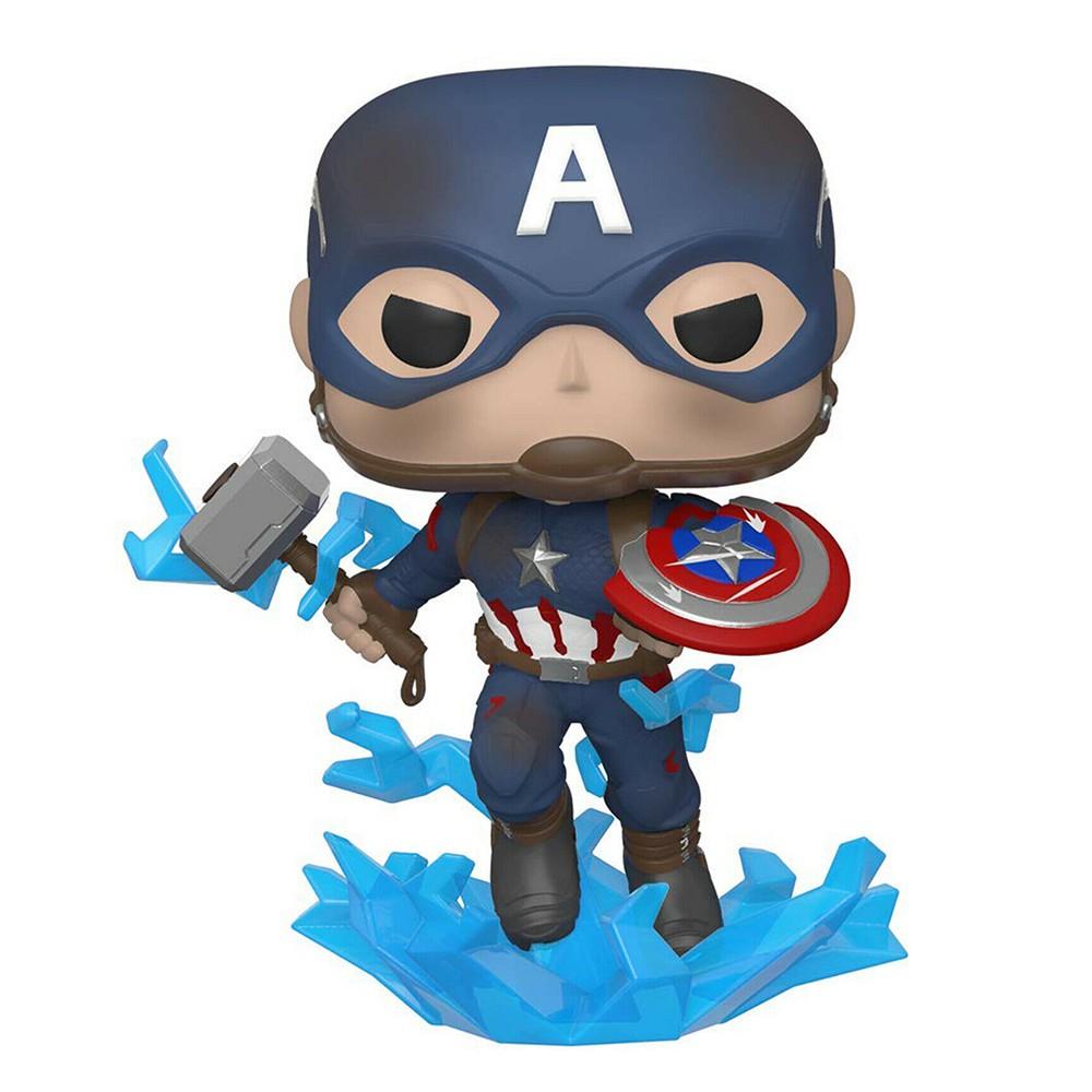 Funko Pop Marvel Vingadores Ultimato - Capitão America com Mjolnir 573