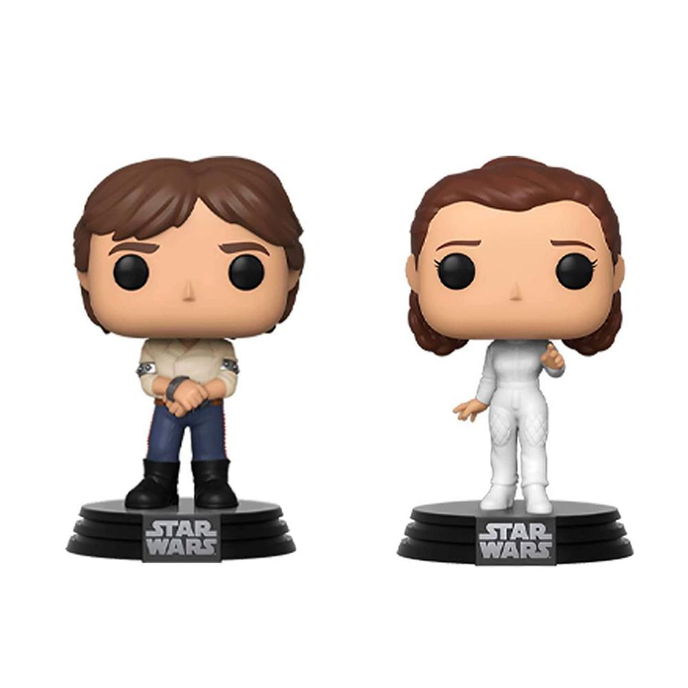 Funko Pop Star Wars 40 anos de Império - Han Solo e Princesa Leia (2 Pack)