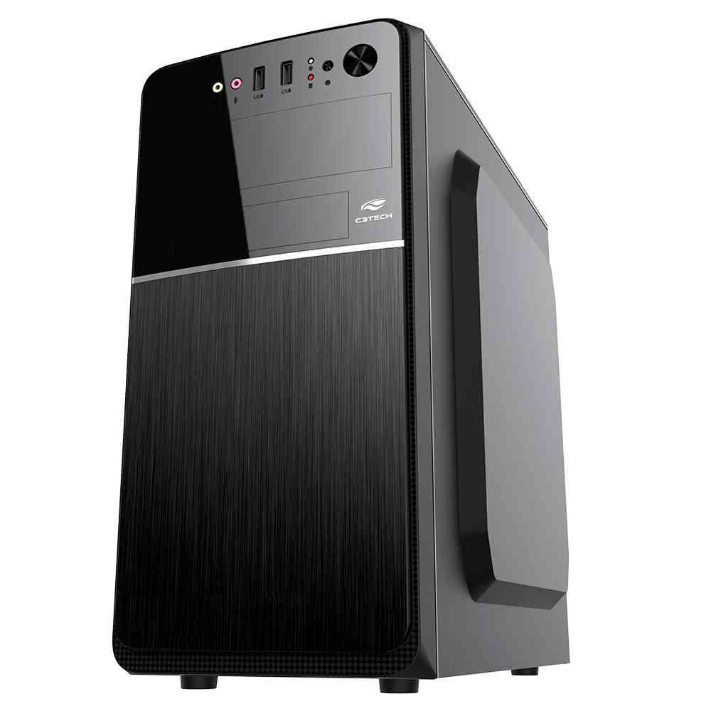 Gabinete C3Tech Micro-ATX com fonte 200W MT-24V2BK