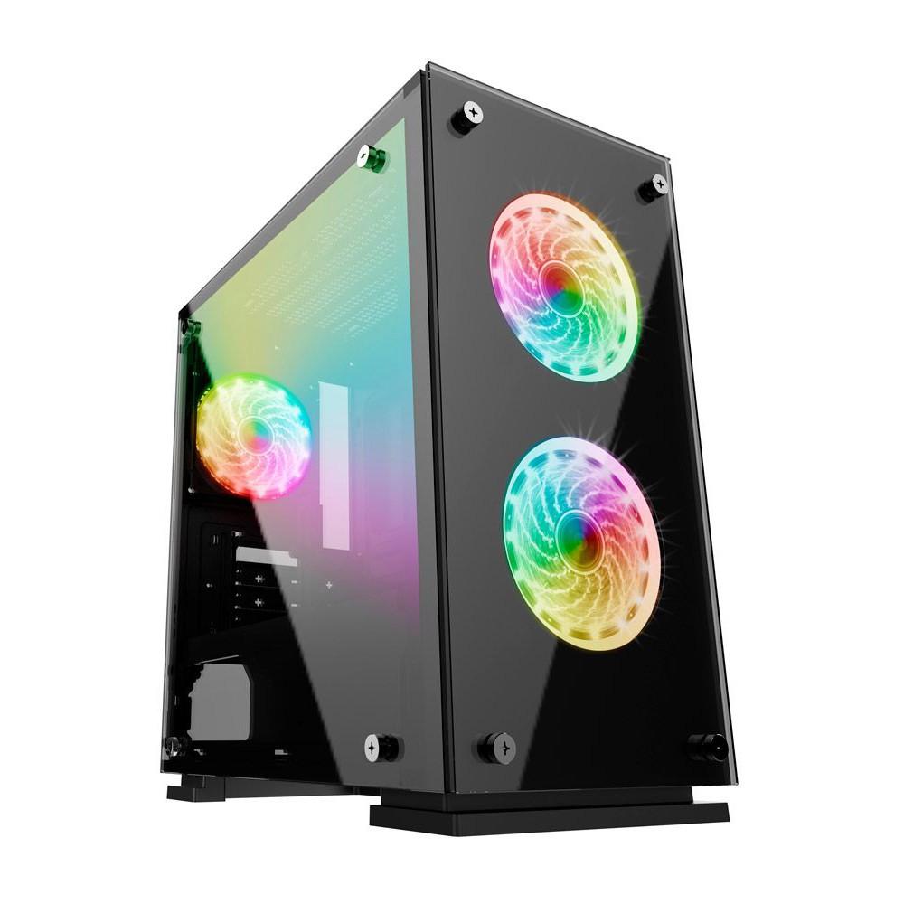 Gabinete Gamemax H605-TA Rainbow + 3 Fan RGB + Controle Remoto