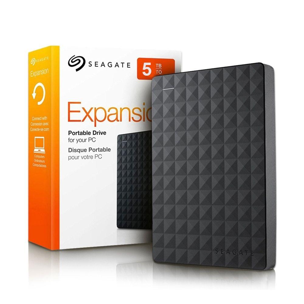 HD Seagate Externo Expansion USB 3.0 5TB Preto - STEA5000402