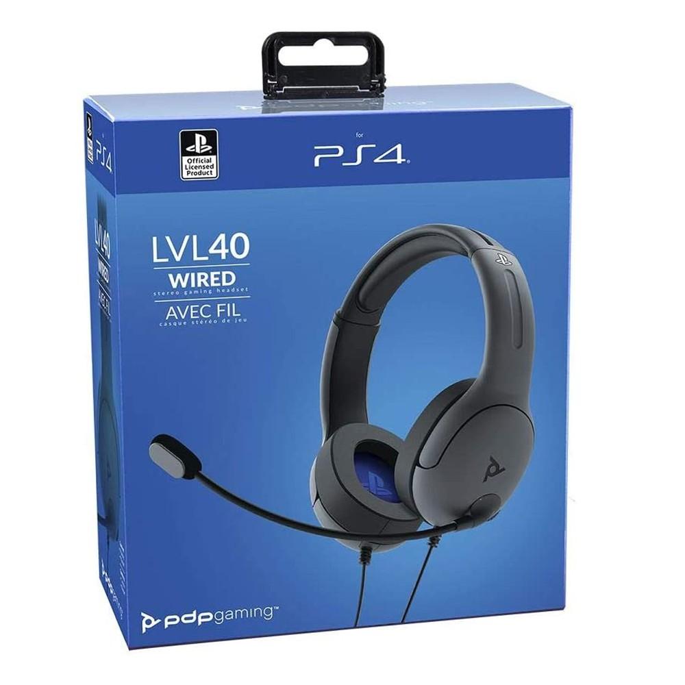 Headset estéreo Com Fio LVL40 para Playstation 4 (PS4) - PDP